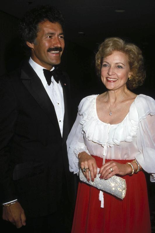Alex Trebek and Betty White in 1982