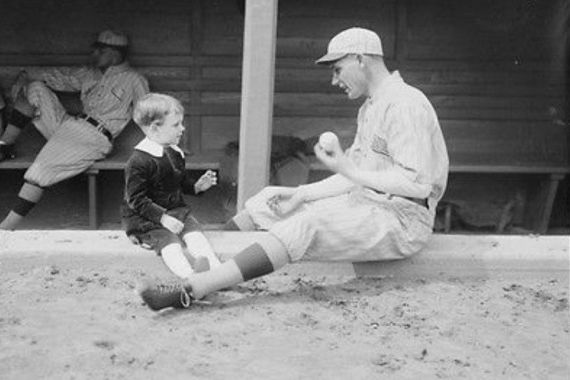 Rube Marquard with son