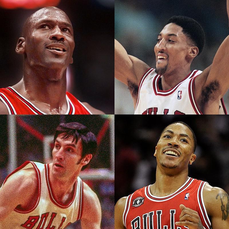 Michael Jordan, Scottie Pippen, Derrick Rose, Jerry Sloan
