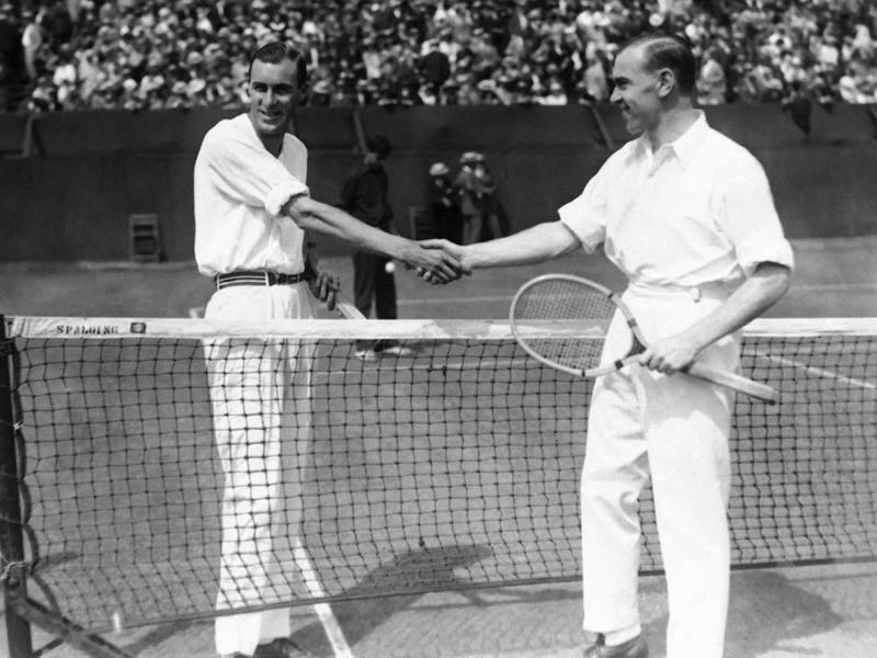 Bill Tilden and Gerald Patterson