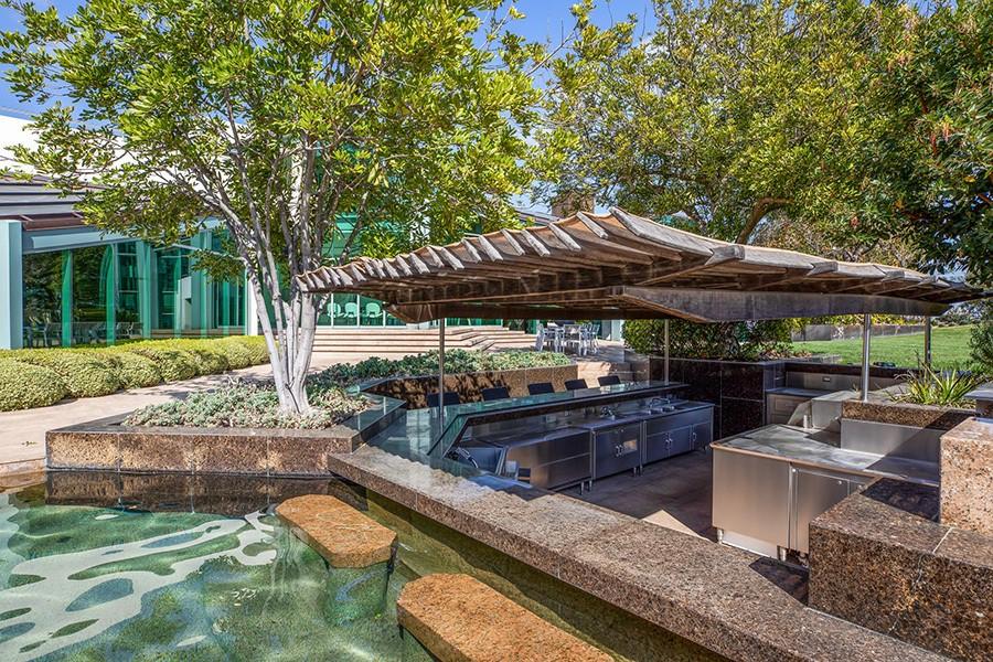 Pharrell Williams' barbecue area