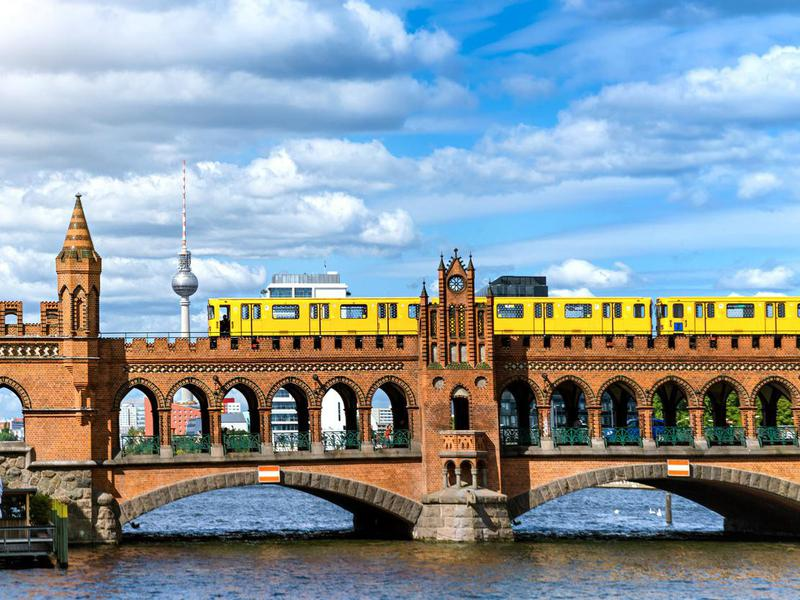 Oberbaum Bridge in Berlin, Germany