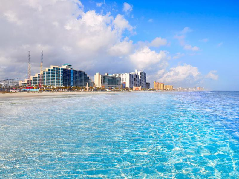 Daytona Beach in Florida coastline USA