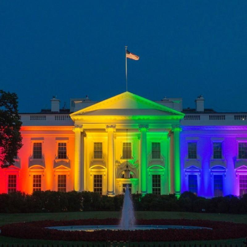 White House celebrating pride