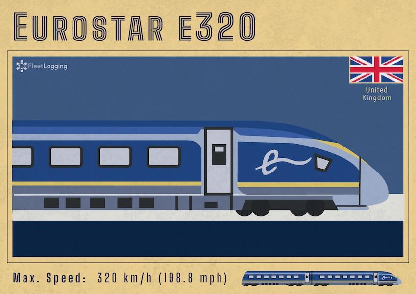 Eurostar e320 in the U.K.