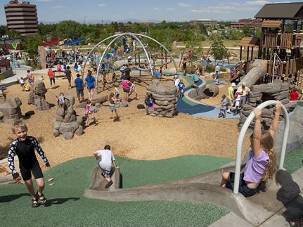 Centennial Center Park splash pad