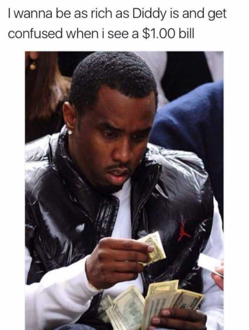 Diddy and a $1 bill