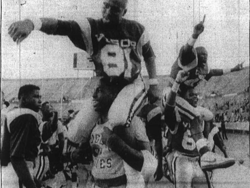 VIgor High School players celebrate in 1988