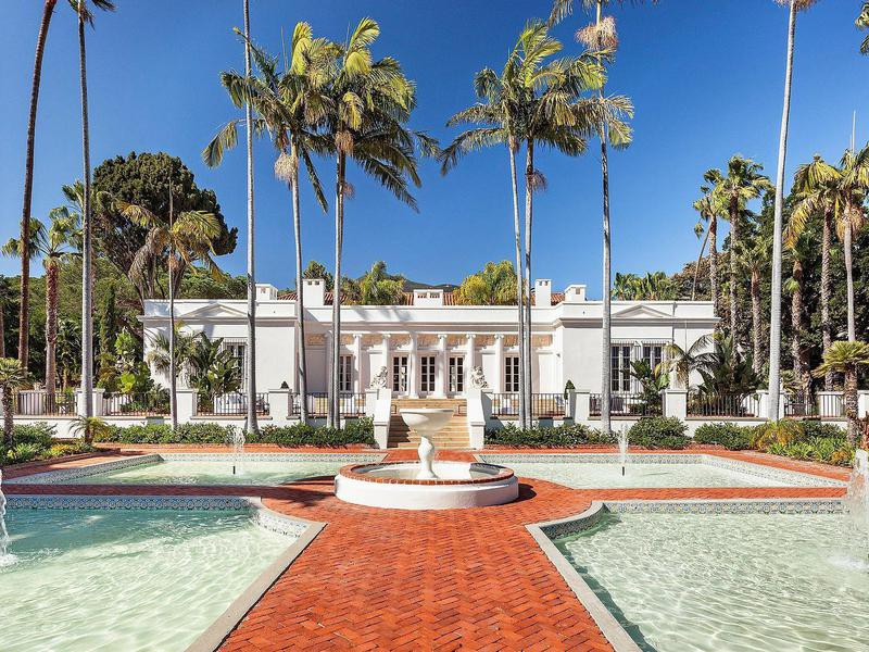 Scarface house fountains in Montecito