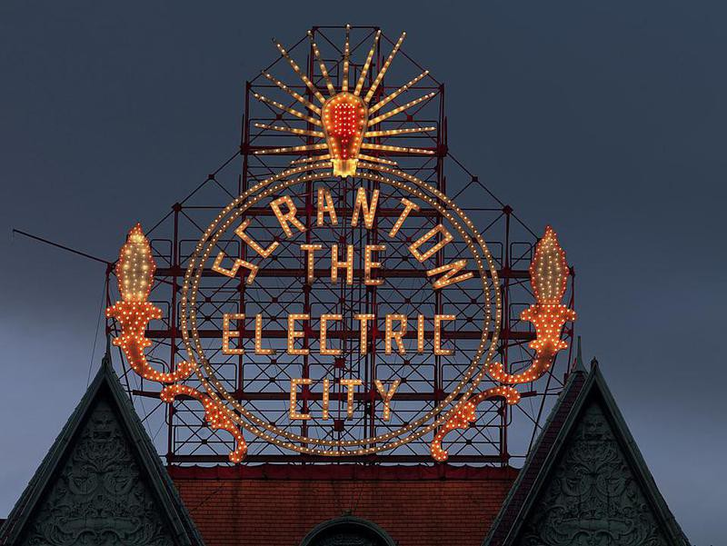 Scranton The Electric City sign