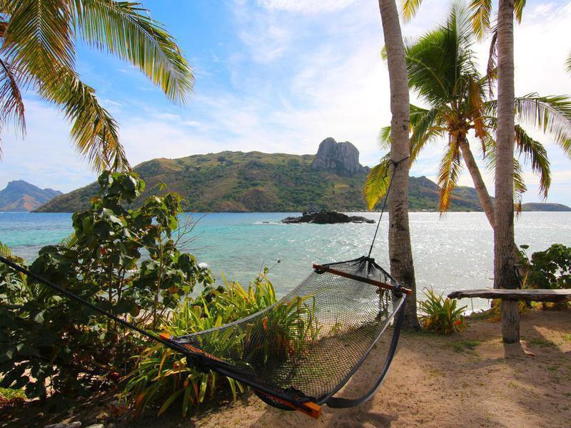 Kuata island hammock in Fiji