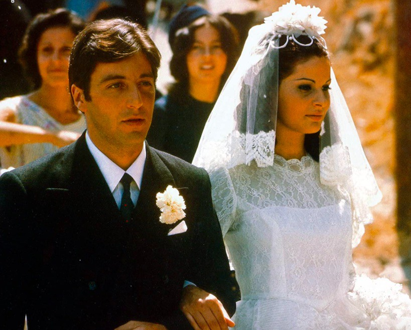 l Pacino and Simonetta Stefanelli in The Godfather