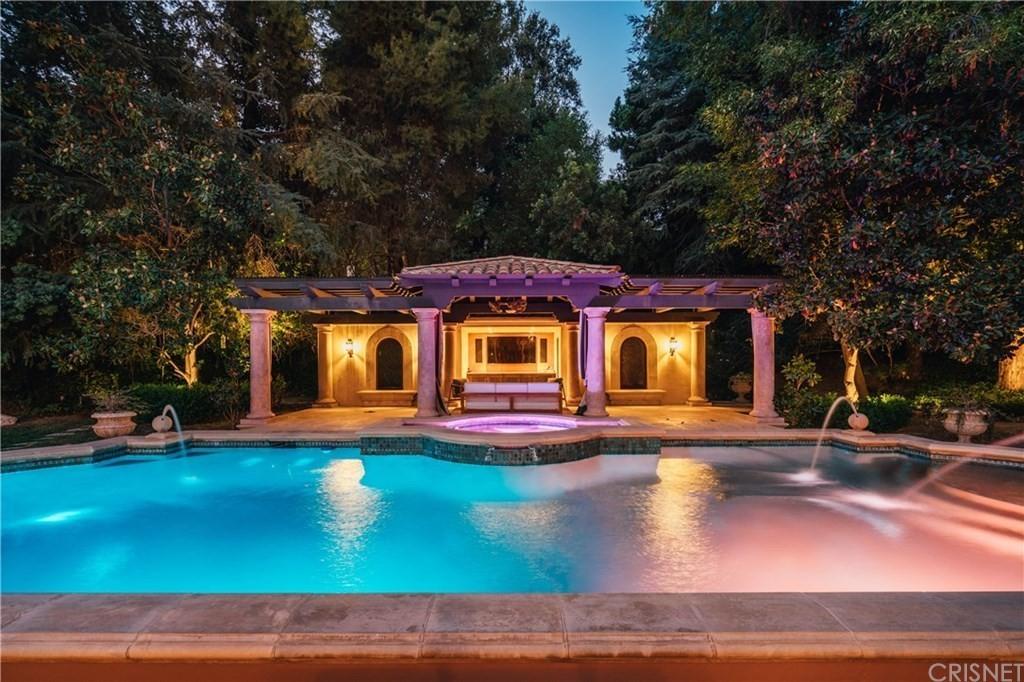 Nikki Sixx's pool in California
