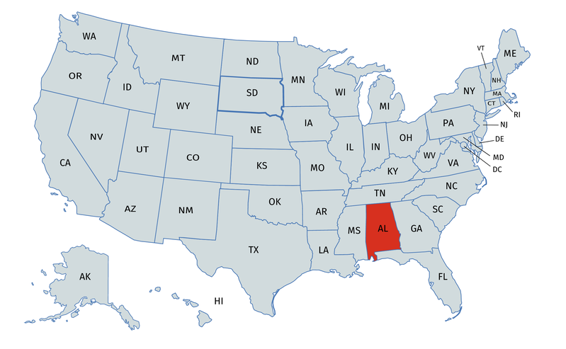 Alabama gender equality & work environment for women