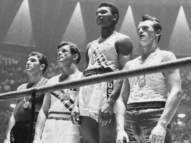 Cassius Clay wins gold at the 1960 Olympics
