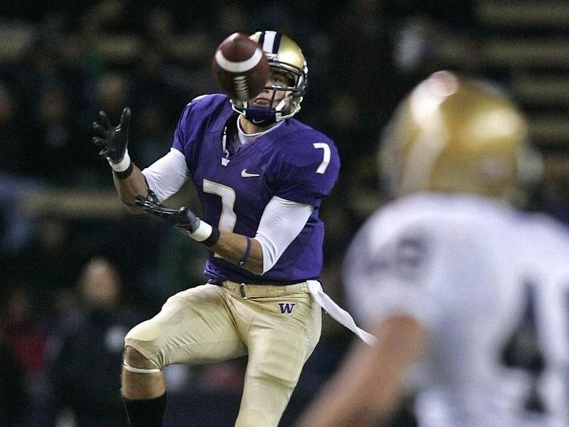 University of Washington wide receiver Cody Bruns