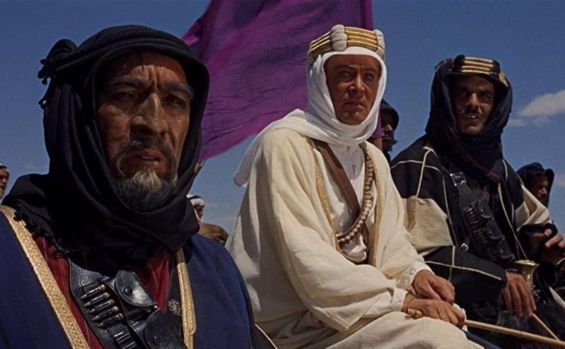 Anthony Quinn, Peter O'Toole, Omar Sharif in Lawrence of Arabia