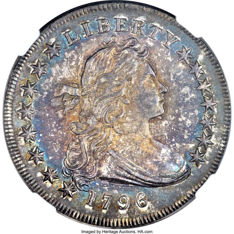 1796 Small Date, Small Letters Silver Dollar
