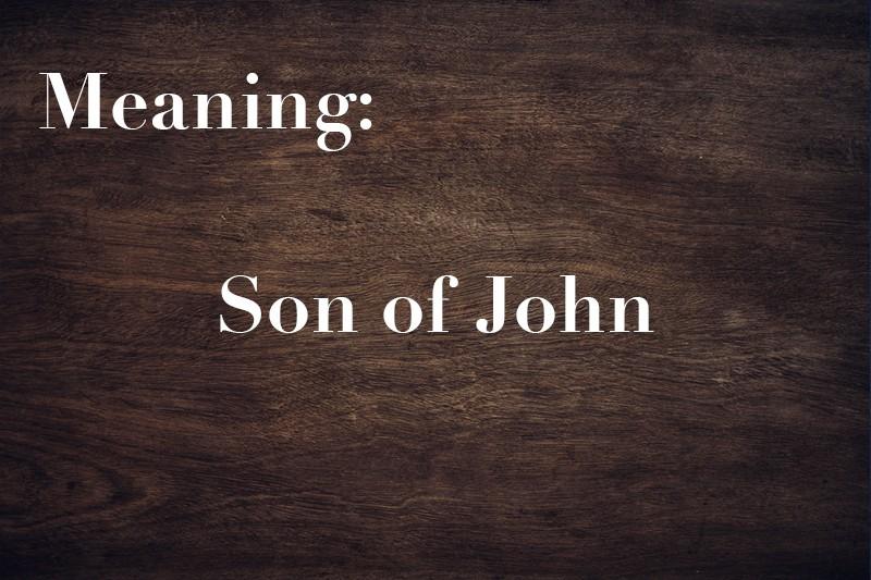 son of John