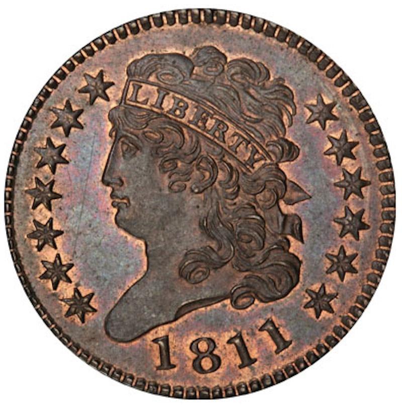 1811 C1 Classic Head Half Cent