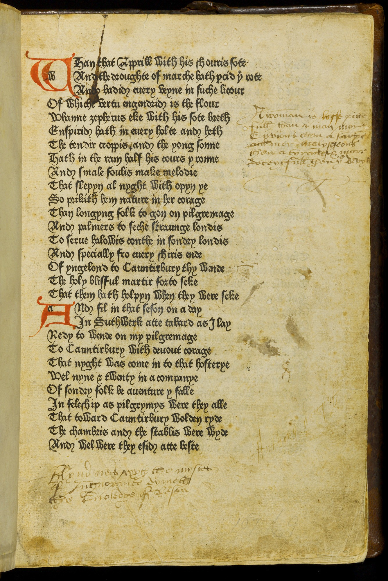 First edition of The Canterbury Tales