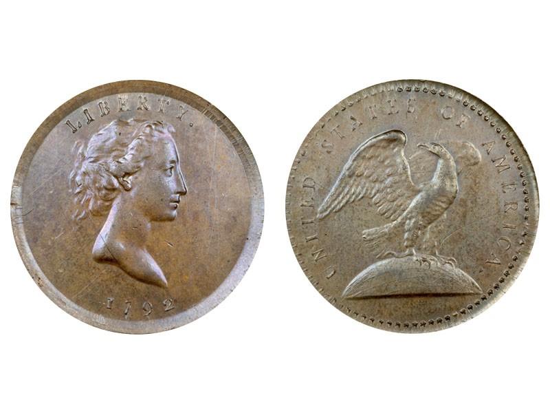 1792 Eagle on Globe Copper Pattern Quarter