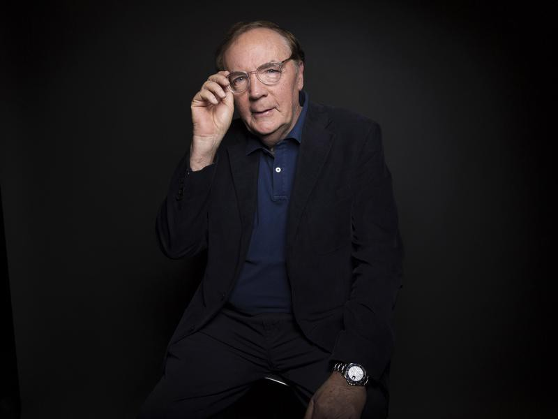 James Patterson poses for a portrait in New York