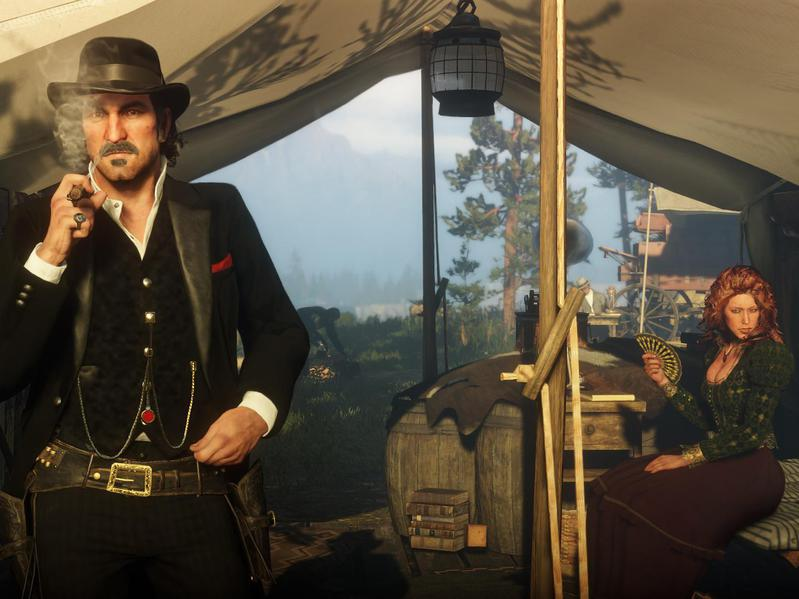 """Two characters from """"Red Dead Redemption 2"""""""