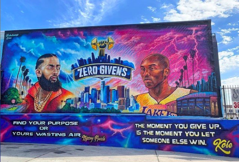 Nipsey Hussle and Kobe Bryant mural in South Los Angeles