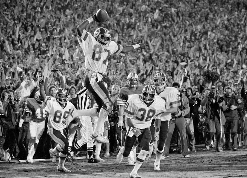 Charlie Brown touchdown in Super Bowl XVII