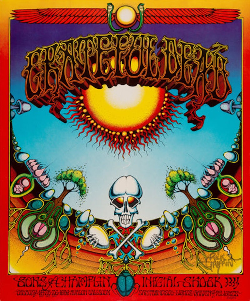 "Grateful Dead 1969 classic ""Aoxomoxoa"" concert poster"