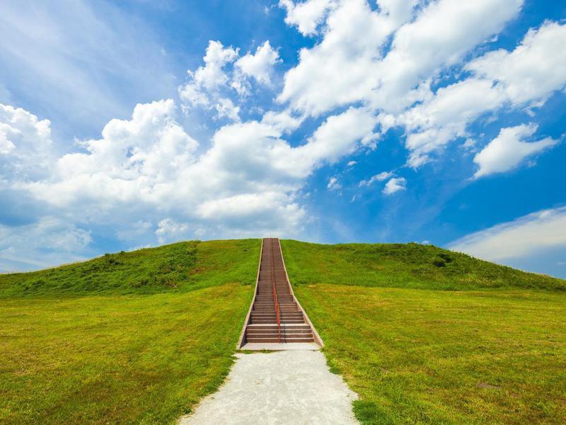 Monks Mound In Collinsville, Illinois, USA
