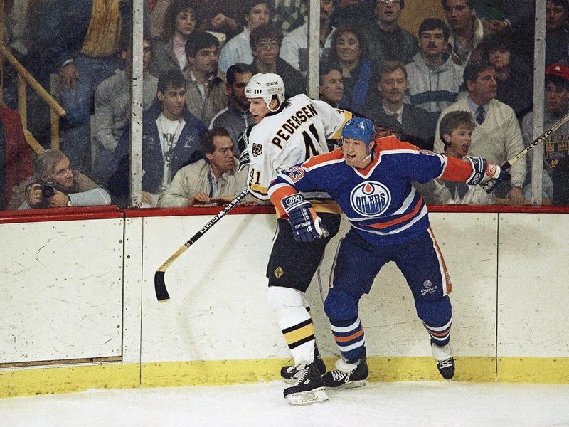 Edmonton Oilers defenseman Marty McSorley