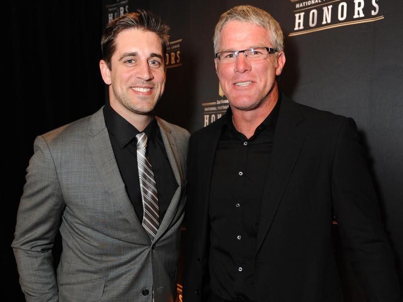 Aaron Rodgers and Brett Favre