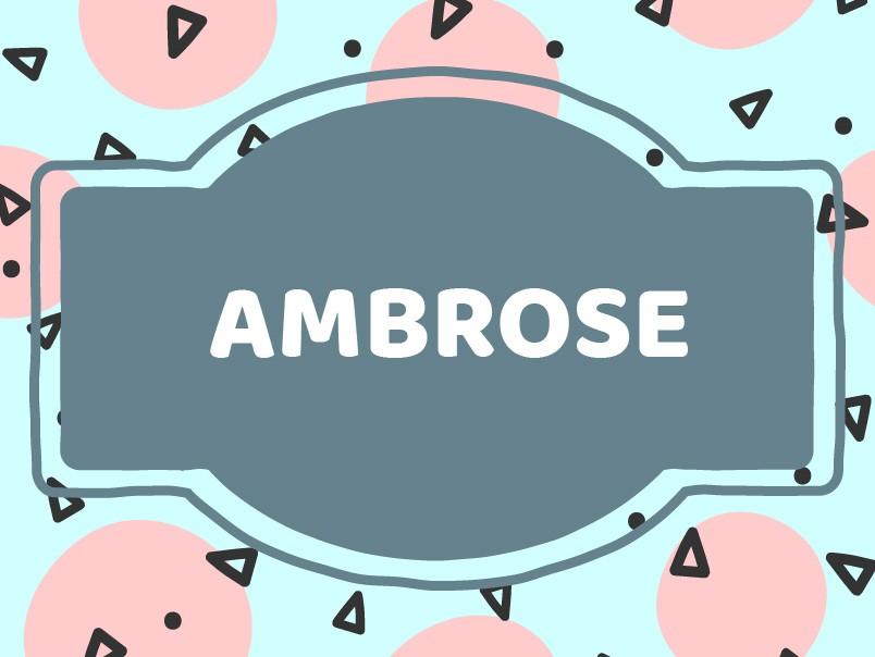 Unique Baby Boy Names: Ambrose