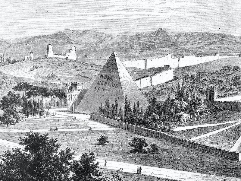 Pyramid of Caius Cestius in Rome