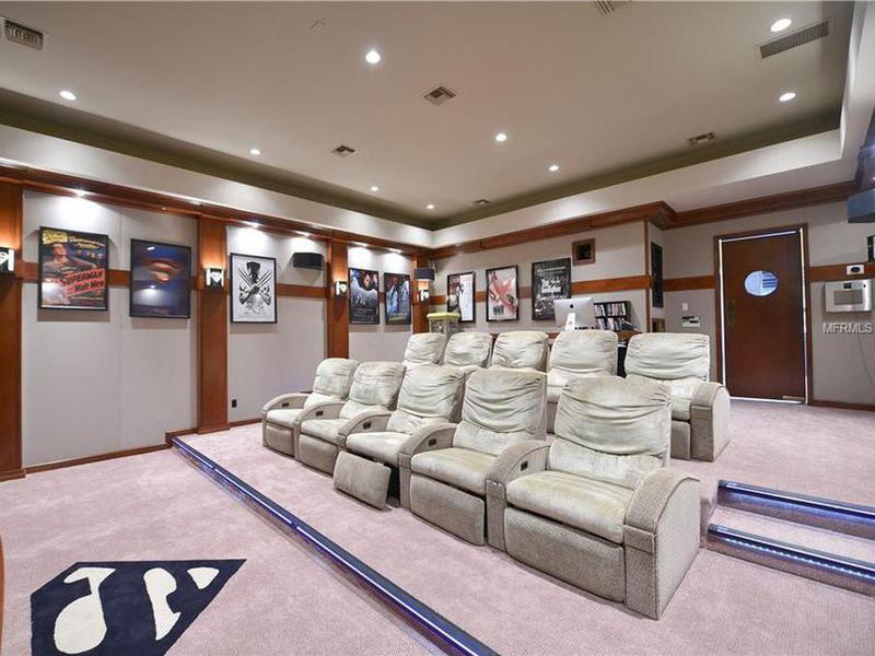 Shaq's home theater