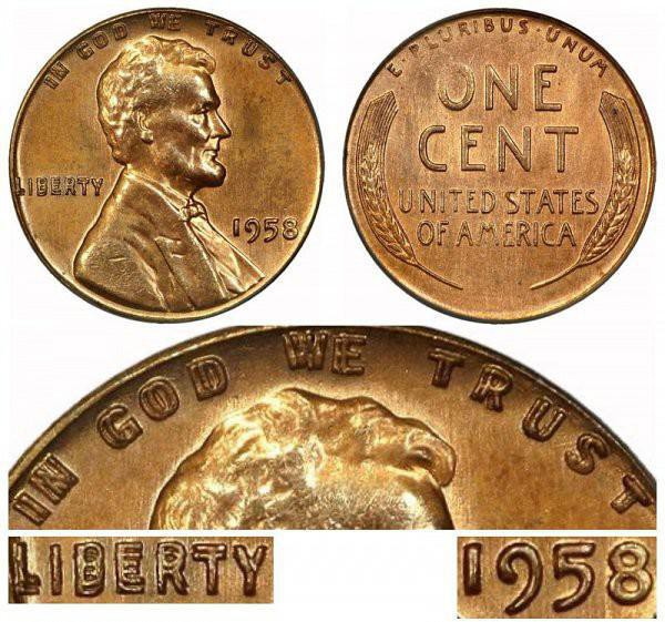 1958 Lincoln Wheat Cent Rare Penny
