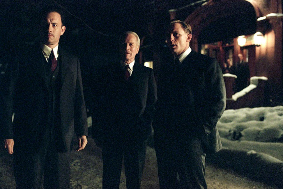 Paul Newman, Tom Hanks, and Daniel Craig in Road to Perdition