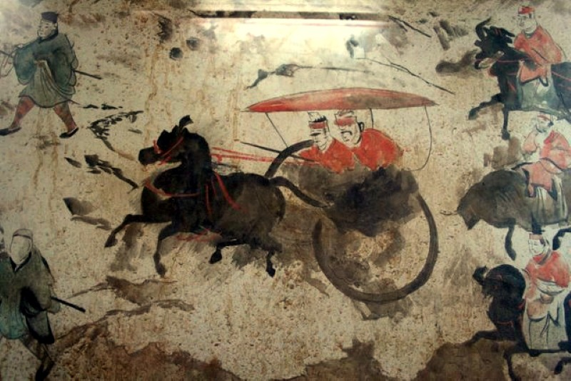 Late Han Dynasty fresco