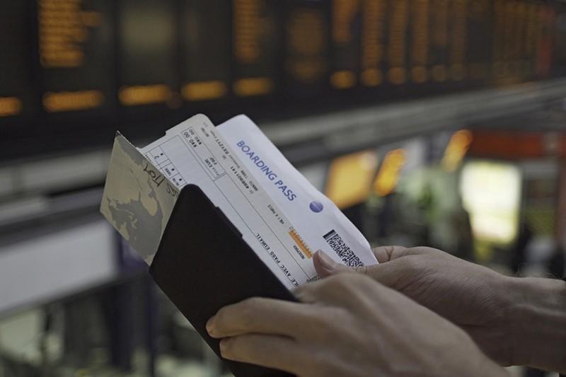 passport and boarding passes