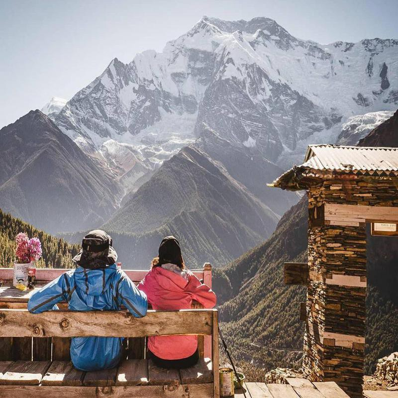Couple Relaxing in Nepal