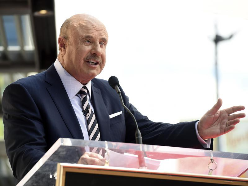 Dr. Phil speaking at Hollywood Walk of Fame ceremony