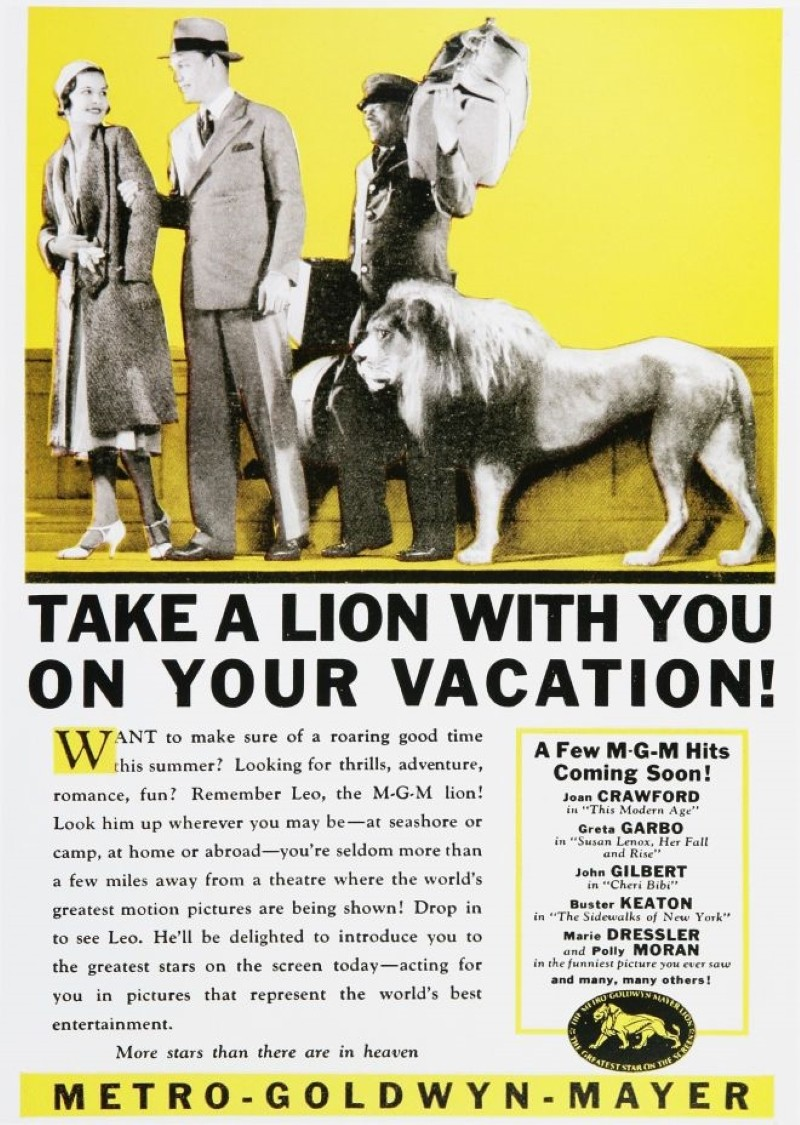 MGM travel ad from the 1930s