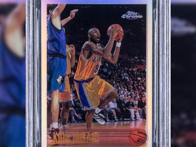 Kobe Bryant 1996-97 Topps Chrome Refractors card