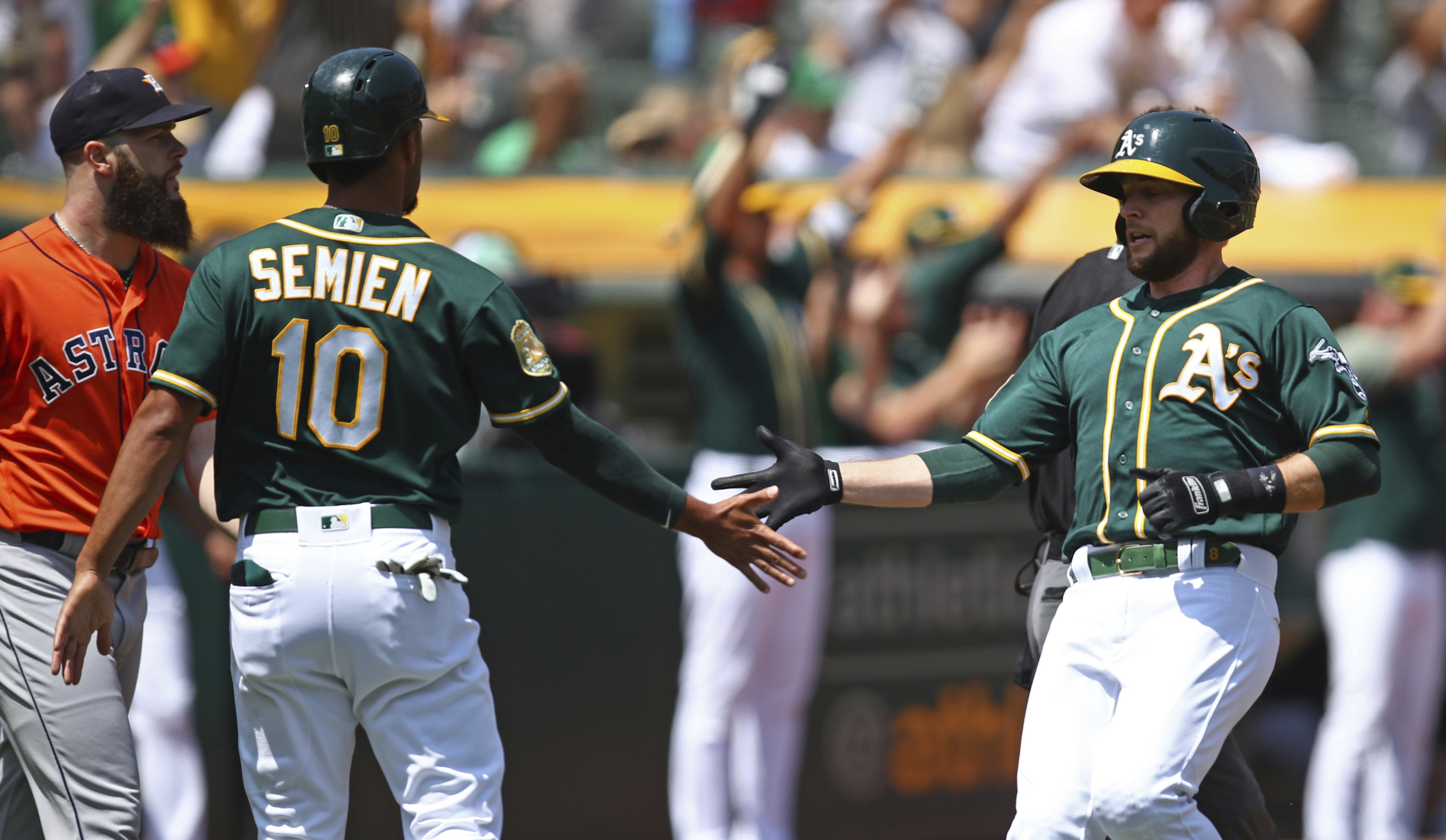 Marcus Semien and Jed Lowrie