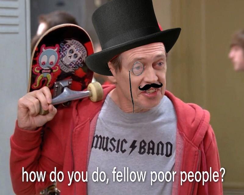 Poor people meme
