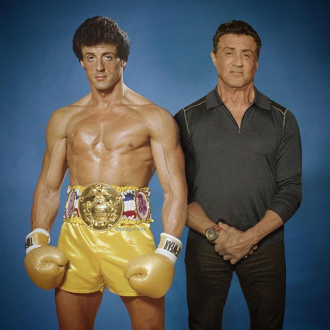 Sylvester Stallone and Rocky Balboa