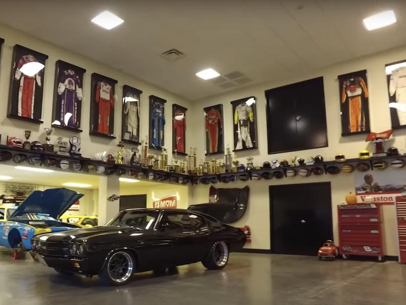 Dale Earnhardt Jr.'s garage