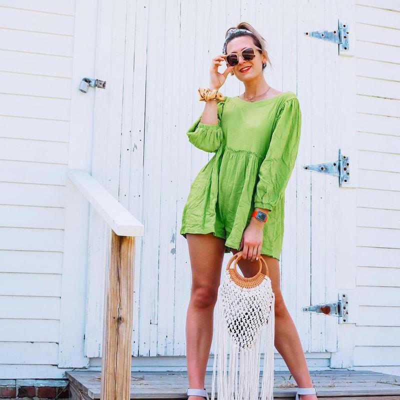 Neon green summer clothes